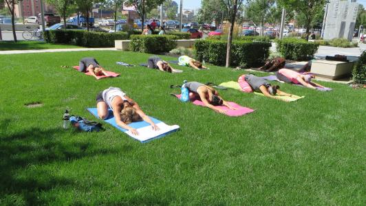 Courtyard yoga July 31st 2015 1
