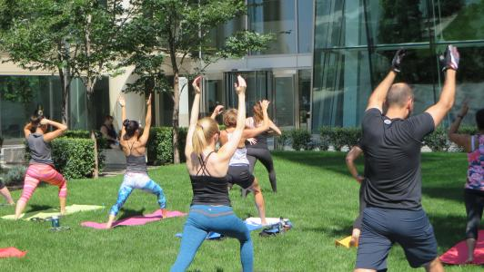 Courtyard yoga July 31st 2015 10