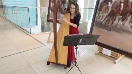 December.9.2015 Christmas Harpist 4